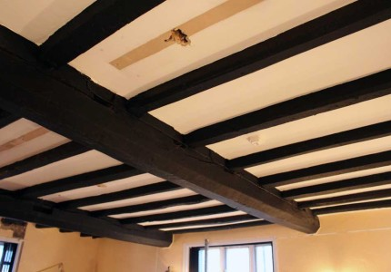 Alcott Hall beams